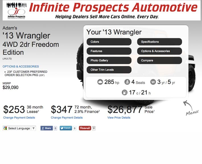 instant automated sales quotes for your auto dealership customers